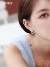 925銀針三角形冷淡風耳釘女 氣質網紅個性耳環耳飾【聚可愛】
