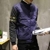 迷彩外套-時尚拼接牛仔休閒男棒球外套72d47[時尚巴黎]