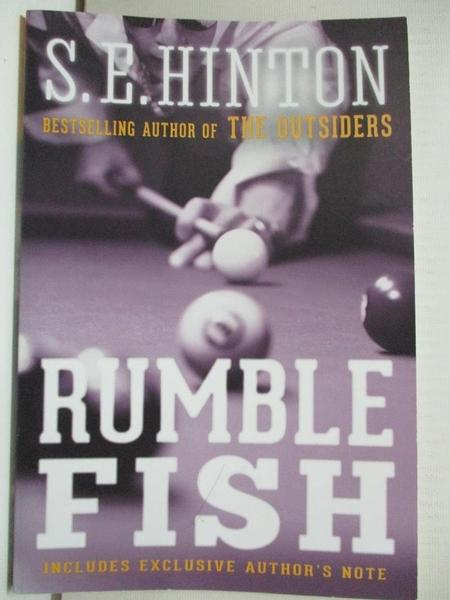 【書寶二手書T9/原文小說_BU7】Rumble Fish_Hinton, S. E.