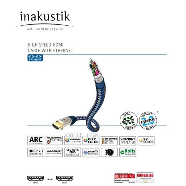 【勝豐群新竹音響】inakustik 4星級 HDMI 4K影音訊號線  2m 公司貨 總代理:瑩聲公司