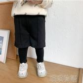 男童長褲-童裝兒童加絨假兩件休閒褲冬裝新款男童保暖洋氣運動褲 喵喵物語