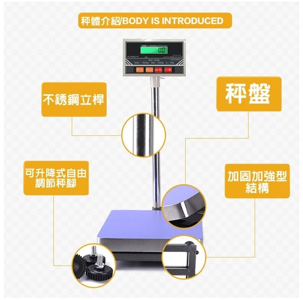 BW-75系列計重台秤【75Kg x 5g 】 小台面30X40 CM !! 充電式、超大字幕 - 保固2年!