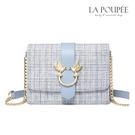 側背包 幸福飛鳥時尚格紋小方包-La Poupee樂芙比質感包飾 (預購)