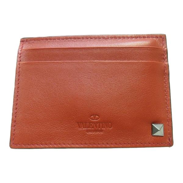 VALENTINO 范倫鐵諾 紅色牛皮卡夾Card Case 【二手名牌 BRAND OFF】