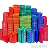 磁力片積木兒童磁性磁鐵吸鐵石玩具2-3-6-8-10歲男孩女孩益智拼裝 歌莉婭