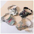 Catworld 花草系圖案空頂遮陽帽【18003552】‧F