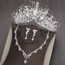 新娘大氣皇冠頭飾三件套
