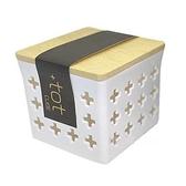asdfkitty*小久保工業所 木蓋透氣收納盒-白色-小的-日本製