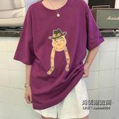 短袖女韓國學生寬鬆百搭T恤BF半袖酷酷的上衣服