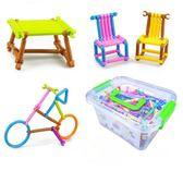 幼兒園兒童益智拼圖3-7歲玩具男孩女孩創意智力拼插積木棒4-6周歲限時八九折