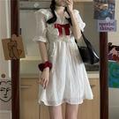 甜美系列 仙女超仙森系連衣裙女夏2021新款日系甜美可愛白色裙子桔梗初戀裙