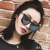 墨鏡 女新款防紫外線太陽鏡潮方形大框太陽眼鏡 DR3079【男人與流行】