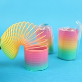 彈簧圈 小 妙妙圈 彩虹圈 童玩/一大袋100個入(促15) 彩色塑料-CF93159