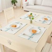 鯉魚福餐墊 素色日式簡約布藝餐桌墊 隔熱墊 雙層兒童餐墊西餐墊【八五折優惠 最後一天】