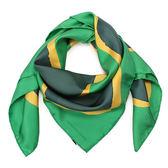 HERMES Claude Viallat大地色披肩方型絲巾(綠色)179161