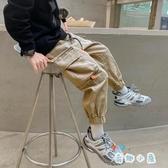 男童工裝褲春秋款長褲兒童休閒褲韓版束腳褲【奇趣小屋】