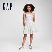 Gap女童 清新碎花A字短裙 687187-白色