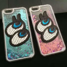 【SZ】正韓 刺繡大眼睛 藍眼睛 流沙iPhone7/8  iphone 6 亮片星星 液體 硬殼 iphone 6 plus 手機殼