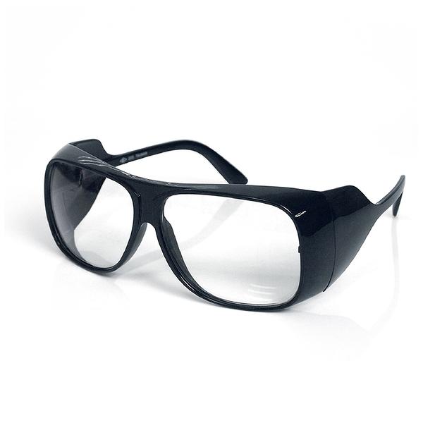 台灣製【強化抗UV安全眼鏡-全包黑框雅痞款 205】工作護目鏡 防護眼鏡 防塵護目鏡