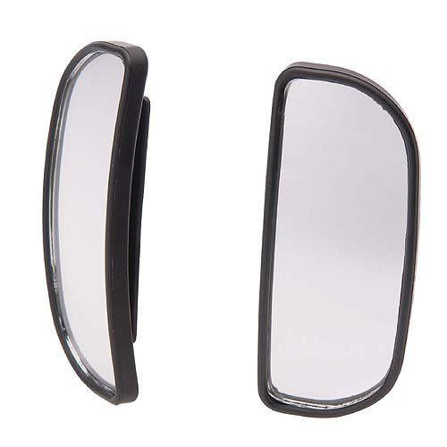 車之嚴選 cars_go 汽車用品【CZ245】日本CARMATE 黏貼式超廣角安全行車輔助鏡(長半圓型) 2入