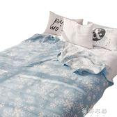 全棉毛巾被純棉雙層紗布被兒童午睡毯學生單人家用igo  蓓娜衣都