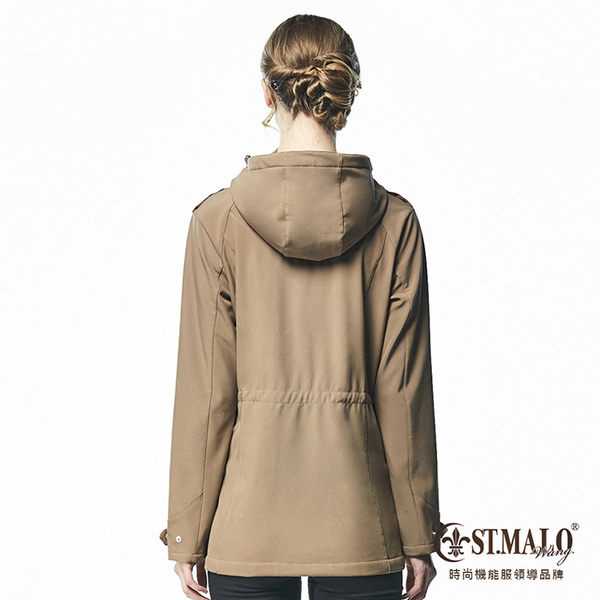 【ST.MALO】德國最新3防護時尚女外套-1672WJ-深卡其