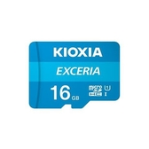 [富廉網]【KIOXIA】EXCERIA 16G Micro-SDHC UHS-I U1 C10 R100 記憶卡