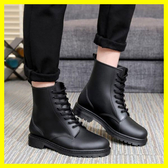 韓版男士馬丁時尚雨鞋短筒防滑耐磨雨靴低筒情侶水鞋膠鞋大碼水靴