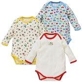 【北投之家】男寶寶長袖包屁衣三件組 日本活肩式連身衣 紅機器人   西松屋童裝 (嬰幼兒)