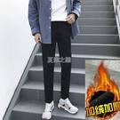 款季休閒褲男青潮流韓版修身小腳加厚西褲九分長褲