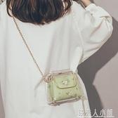 透明果凍包包女仙女蕾絲洋氣手提包百搭斜背包錢夫人小鋪