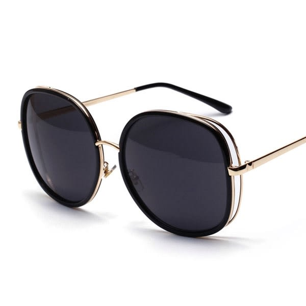 OT SHOP太陽眼鏡‧歐美超大方型雙框設計抗UV400修飾臉型墨鏡‧黑色/漸層黑/粉色‧現貨‧U54