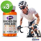 BCAA支鏈胺基酸 (60顆/瓶)三瓶組-NOW健而婷