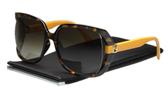 FENDI-時尚太陽眼鏡 (玳瑁色+黃色鏡腳)