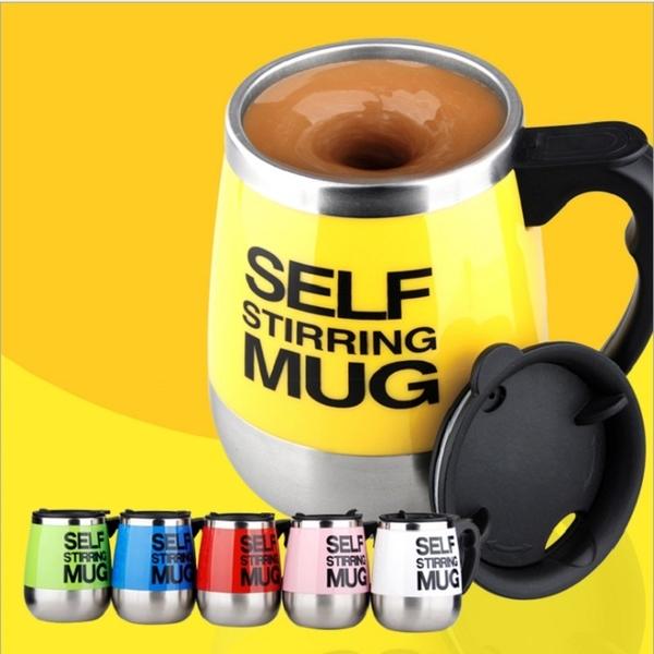 400ml 不鏽鋼電動攪拌咖啡杯 馬克杯 懶人杯【AE02709】 i-style 精品百貨