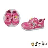 【樂樂童鞋】【台灣製現貨】碰碰狐鯊魚寶寶運動燈鞋-粉色 P027 - 現貨 台灣製 女童鞋 運動鞋