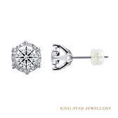 GIA 經典永恆30分鑽石耳環 King Star海辰國際珠寶 K金 飾品 另有30分鑽石項鍊可選