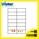 裕德 電腦標籤 14格 US4674-1000 一千張 一箱 三用標籤 列印標籤 (出貨/網拍/寄件/標籤貼紙)