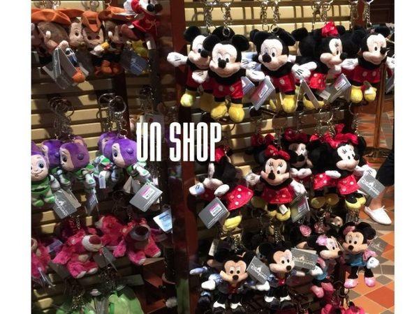 香港迪士尼代購連線草莓熊米奇米妮史迪奇維尼胡迪巴斯光年鑰匙圈-UN SHOP柚恩原創【H09】