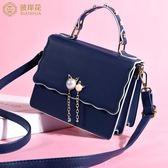 可愛少女手提小包包女2019新款高級感洋氣質感單肩斜挎包時尚女包-ifashion