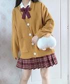 毛衣外套 jk毛衣針織衫開衫女可愛甜美日系春秋薄學院風慵懶風寬松冬季外套 風馳