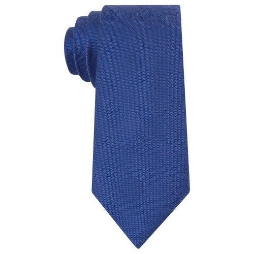 MICHAEL KORS-Luxe時尚絲綢混搭窄領帶(藍色)