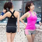 瑜珈服套裝(兩件套)-吸汗速乾背心夏季女運動服2色73oc24[時尚巴黎]