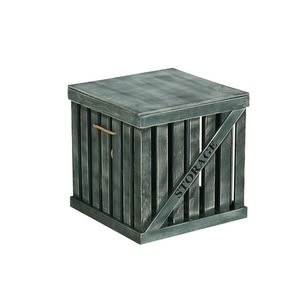 木質簍空附蓋收納箱