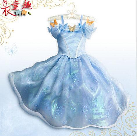 衣童趣 ♥可愛甜美女童禮服裝 公主澎澎裙洋裝角色扮演 冰雪公主裝 蝴蝶公主