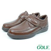 【GOLF】日本4E寬楦手工魔鬼氈鹿皮休閒氣墊鞋 棕色(GF9247-BR)