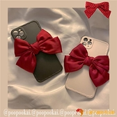 少女紅色蝴蝶結蘋果11手機殼iphone7/promax軟8plus/se/xr夜市量販【小獅子】