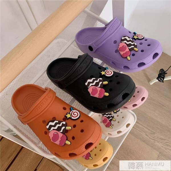新款涼拖鞋女夏外穿防滑厚底可愛學生護士洞洞鞋沙灘鞋 夏季新品