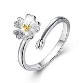 活口銀櫻花戒指 女 花朵時尚甜美開口可調節尾戒指環《小師妹》ps491