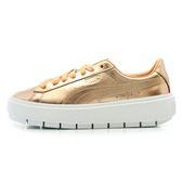 Puma Platform 金女鞋板鞋 鞋滑板鞋Trace 厚底增高鞋麂皮耐磨367852